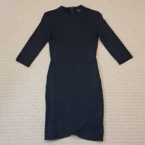 Topshop mid sleeve black dress size us4